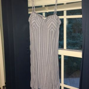 Cute small blue with white stripes dress